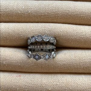 Chloe + Isabel Heirloom Crystal Stackable Rings